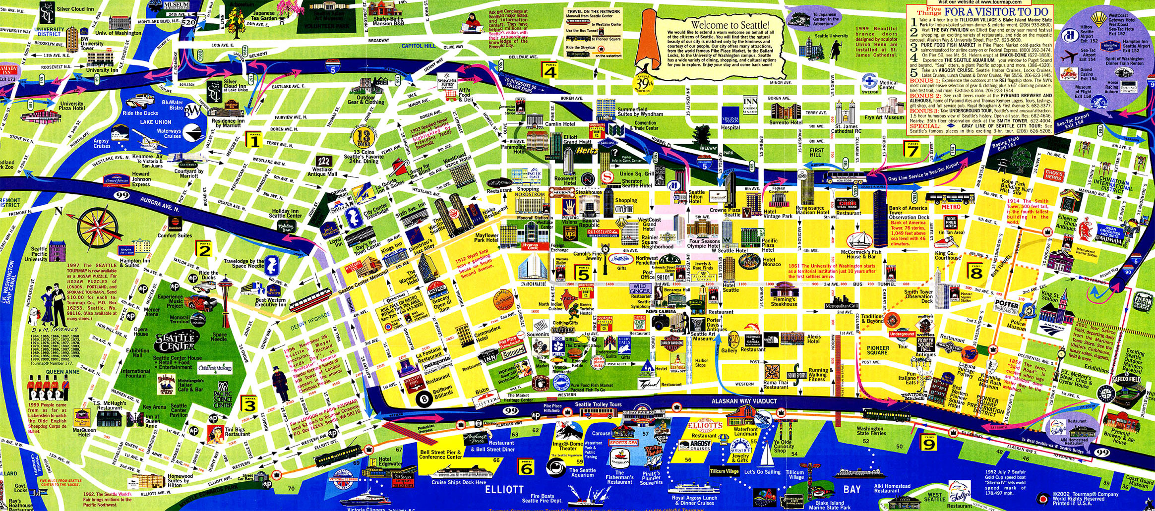 Tourist Map of Vancouver – Vancouver Tourist Map