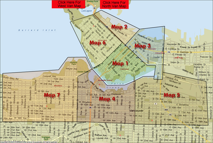 Downtown Vancouver Main Map Page - RE/MAX Crest Realty